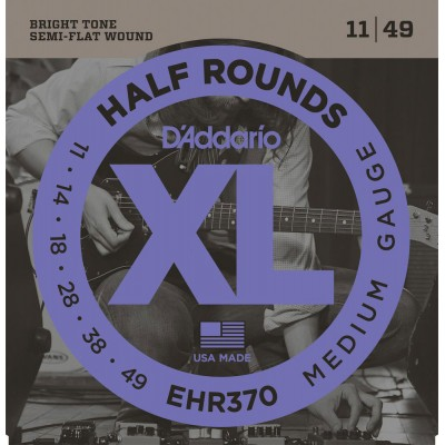 D'ADDARIO AND CO EHR370 HALF ROUND ELECTRIC GUITAR STRINGS MEDIUM 11-49