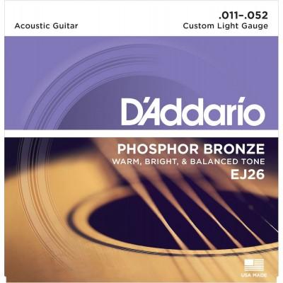 D'ADDARIO AND CO EJ26 11-52 CUSTOM LIGHT PHOSPHORE BRONZE