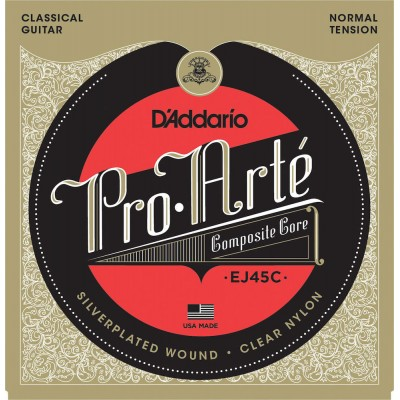 D'ADDARIO AND CO EJ45C PRO-ARTE COMPOSITE CLASSICAL GUITAR STRINGS NORMAL TENSION