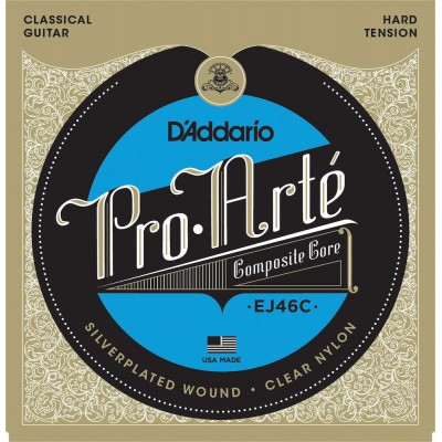 D'ADDARIO AND CO EJ46C PRO-ARTE COMPOSITE CLASSICAL GUITAR STRINGS HARD TENSION