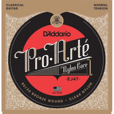 D'ADDARIO AND CO EJ47 80/20 BRONZE PRO-ARTE NYLON CLASSICAL GUITAR STRINGS NORMAL TENSION
