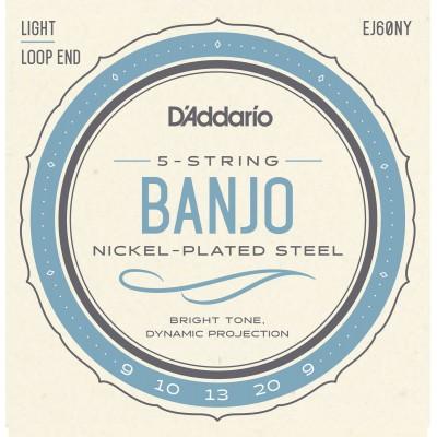D'ADDARIO AND CO EJ60NY STRINGS FOR BANJO 9-20 LIGHT