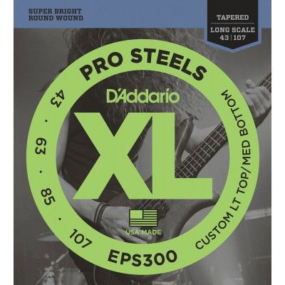 D'ADDARIO AND CO EPS300 BASS STRING SET .043.063.063.085.107