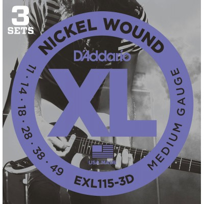 D'ADDARIO AND CO EXL115-3D