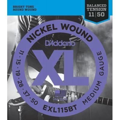 D'ADDARIO AND CO EXL115BT NICKEL STRINGS FOR ELECTRIC GUITAR BALANCED MEDIUM 11-50