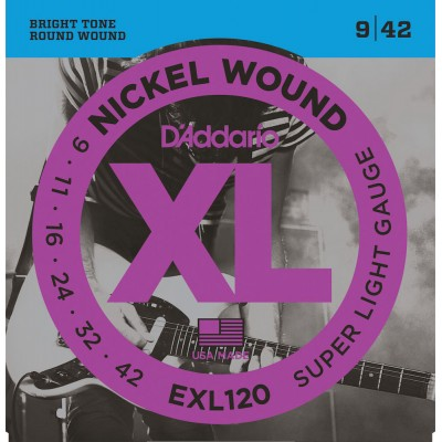 D'ADDARIO AND CO EXL120 LIGHT 9-42