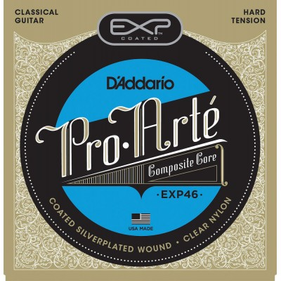 D'ADDARIO AND CO EXP46 COATED CLASSICAL GUITAR STRINGS HARD TENSION
