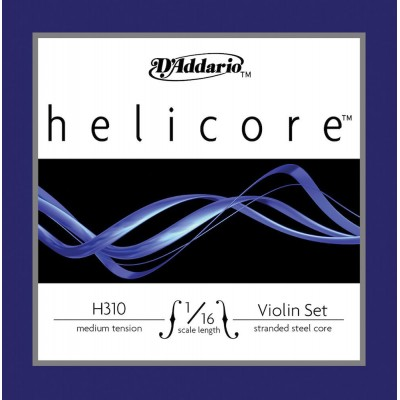 D'ADDARIO AND CO SET OF STRINGS FOR VIOLIN 1/16 HELICORE TENSION MEDIUM