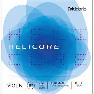 D'ADDARIO AND CO HELICORE VIOLIN STRING SET HELICORE NECK 4/4 TENSION LIGHT