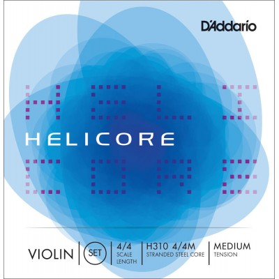 D'ADDARIO AND CO 4/4 HELICORE VIOLIN STRING SET SCALE MEDIUM TENSION