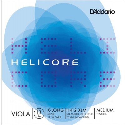 D'ADDARIO AND CO HELICORE H412 RE STRING WITH MEDIUM PULL FOR VERY LARGE VIOLA