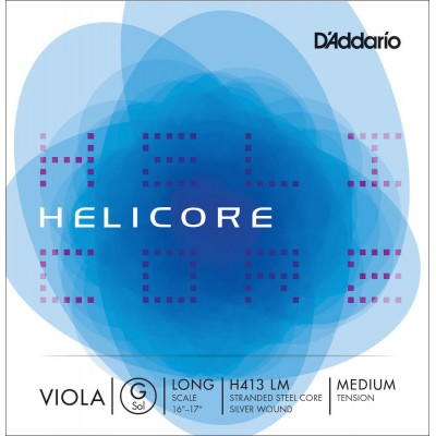 D'ADDARIO AND CO HELICORE VIOLA SINGLE G STRING LONG SCALE MEDIUM TENSION