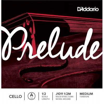 D'ADDARIO AND CO 1/2 PRELUDE CELLO SINGLE A STRING SCALE MEDIUM TENSION