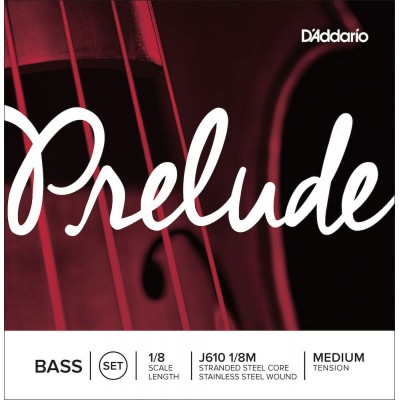 D'ADDARIO AND CO SET OF STRINGS FOR DOUBLE BASS PRELUDE NECK 1/8 TENSION MEDIUM