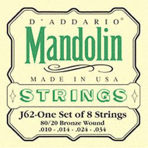 D'ADDARIO AND CO BRONZE 80/20 J62 MANDOLINE
