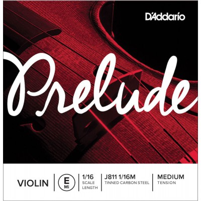 D'ADDARIO AND CO SINGLE STRING (MI) FOR VIOLIN 1/16 PRELUDE TENSION MEDIUM