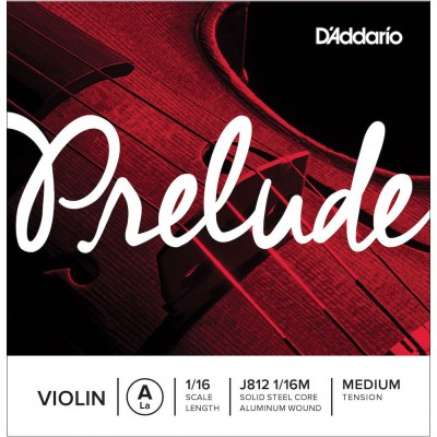 D'ADDARIO AND CO SINGLE STRING (A) FOR VIOLIN 1/16 PRELUDE TENSION MEDIUM