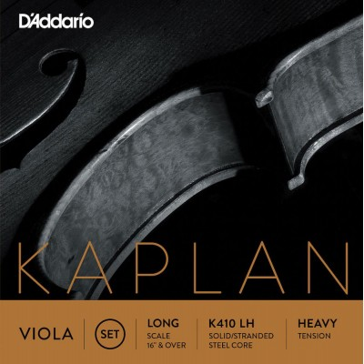D'ADDARIO AND CO K410-LH KAPLAN STRING SET FOR ALTO LONG SCALE STRONG PULL