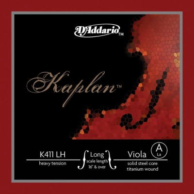 D'ADDARIO AND CO K411LH KAPLAN KAPLAN SINGLE STRING A FOR ALTO LONG SCALE HEAVY TENSION RED