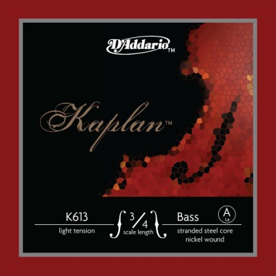 D'ADDARIO AND CO STRING ONLY (A) FOR DOUBLE BASS KAPLAN HANDLE 3/4 TENSION LIGHT