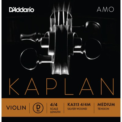 D'ADDARIO AND CO KA313 4/4M RE STRING FOR VIOLIN 4/4 MEDIUM VOLTAGE