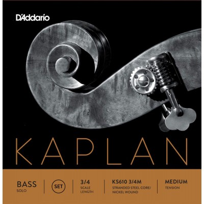 D'ADDARIO AND CO SET OF STRINGS FOR DOUBLE BASS 3/4 KAPLAN SOLO TENSION MEDIUM
