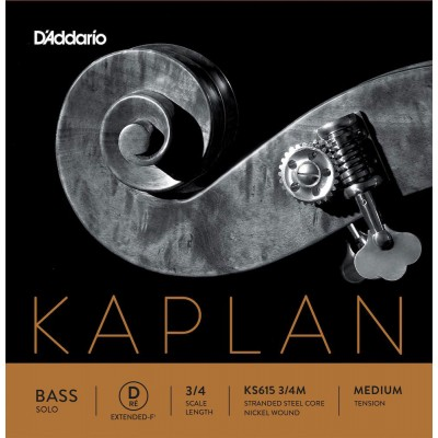 D'ADDARIO AND CO STRING ONLY (EXTENDED) FOR DOUBLE BASS 3/4 KAPLAN SOLO MEDIUM TENSION