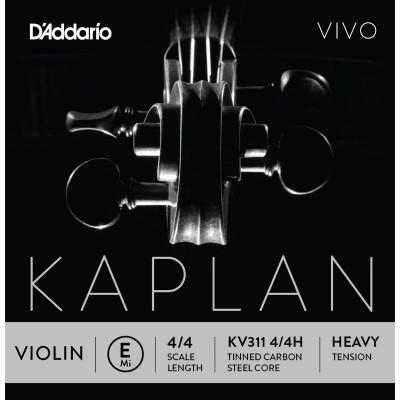 D'ADDARIO AND CO KV311 4/4H E STRING FOR VIOLIN 4/4 HEAVY