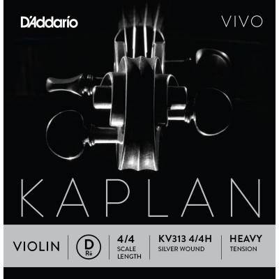 D'ADDARIO AND CO KV313 4/4H RE STRING FOR VIOLIN 4/4 HEAVY