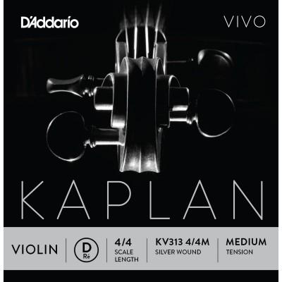 D'ADDARIO AND CO KV313 4/4M RE STRING FOR VIOLIN 4/4 MEDIUM