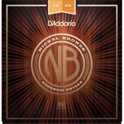 D'ADDARIO AND CO NICKEL BRONZE LIGHT TOP / MED BOTTOM, 12-56