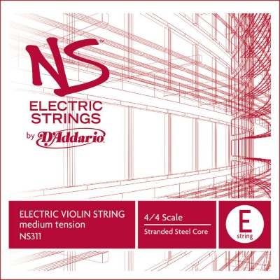 D'ADDARIO AND CO SINGLE STRING (E) FOR VIOLIN NS ELECTRIC 4/4 TENSION HANDLE MEDIUM