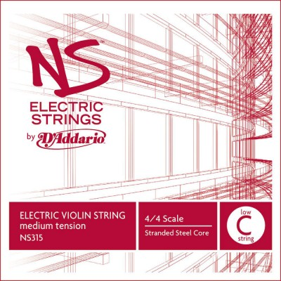 D'ADDARIO AND CO SINGLE STRING (LOW C) FOR VIOLIN NS ELECTRIC 4/4 TENSION HANDLE MEDIUM