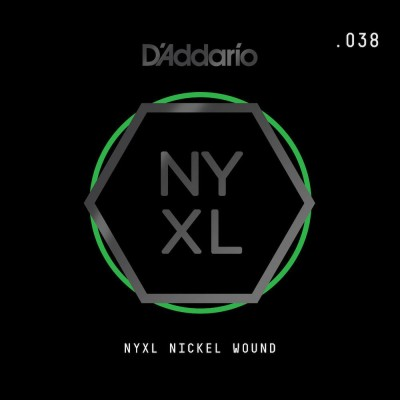 D'ADDARIO AND CO NYNW038 STRING FOR ELECTRIC GUITAR NICKEL WOUND TIE-ROD .038