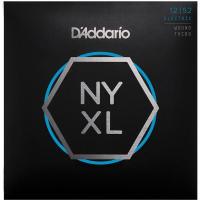 D'ADDARIO AND CO STRINGS FOR ELECTRIC GUITAR NYXL1252W NICKEL NET 3RD STRING WITH LIGHT NET 12-52