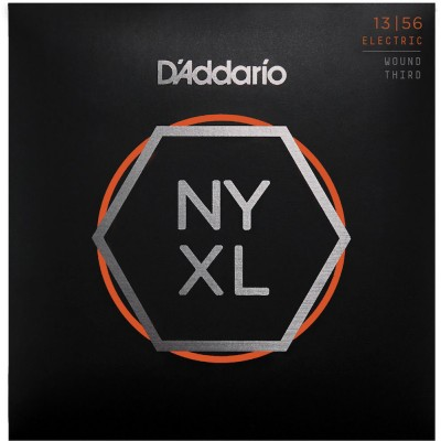 D'ADDARIO AND CO CORDES POUR GUITARE ELECTRIQUE NYXL1356W FILET NICKEL 3E CORDE AVEC FILET MEDIUM 13-56