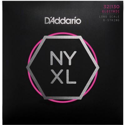 D'ADDARIO AND CO BASS STRINGS NYXL32130 NICKEL NET REGULAR LIGHT 6 STRINGS 32-130 LONG TUNING FORK