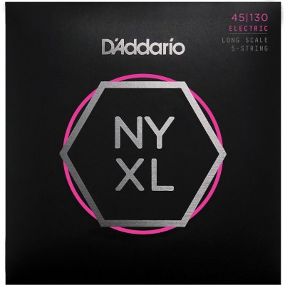 D'ADDARIO AND CO NYXL REGULAR LIGHT 5-STRING, 45-130