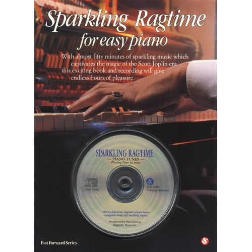 AMSCO SPARKLING RAGTIME FOR EASY PIANO + CD - PIANO SOLO