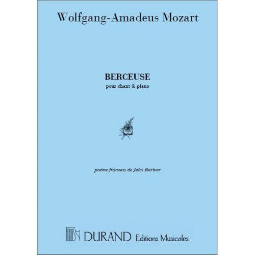 DURAND MOZART - BERCEUSE - CHANT ET PIANO
