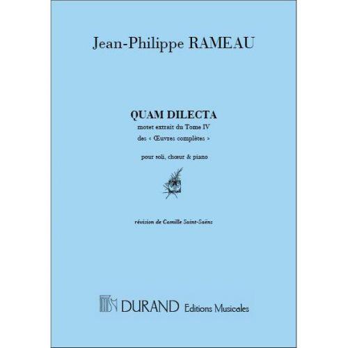 DURAND RAMEAU - QUAM DILECTA - CHANT ET PIANO