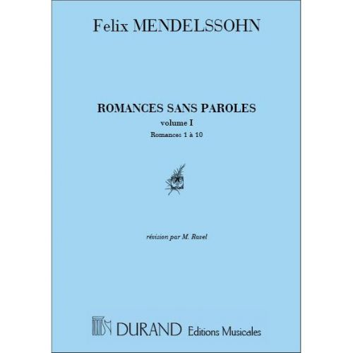 DURAND MENDELSSOHN - ROMANCES SANS PAROLES VOL.1 - PIANO