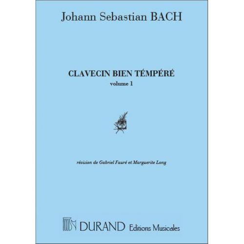 DURAND BACH J.S. - CLAVECIN BIEN TEMPERE V.1 - PIANO