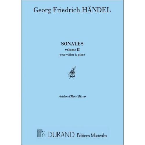 DURAND HAENDEL - SONATES VOL 2 - VIOLON ET PIANO
