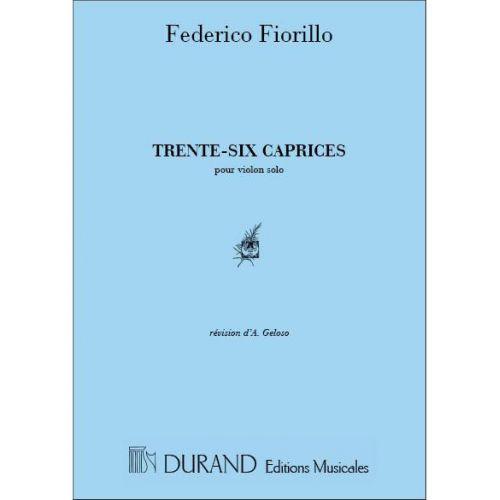DURAND FIORILLO - 36 CAPRICES - VIOLON