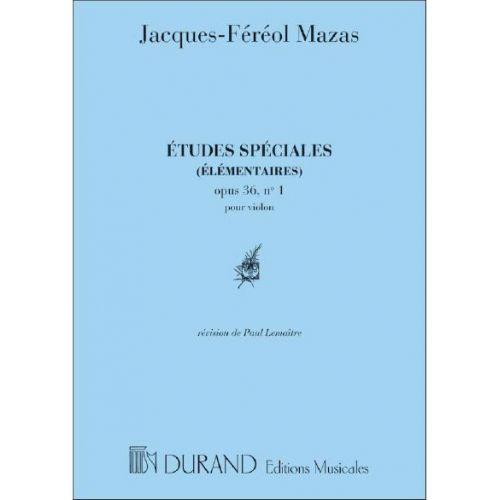 DURAND MAZAS - ETUDES SPECIALES 1 OP 36 - VIOLON