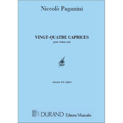 DURAND PAGANINI - 24 CAPRICES - VIOLON SEUL
