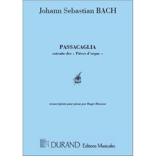 DURAND BACH J.S. - PASSACAGLIA - PIANO