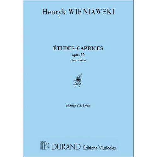 DURAND WIENIAWSKI - ETUDES-CAPRICES OP 10 - VIOLON