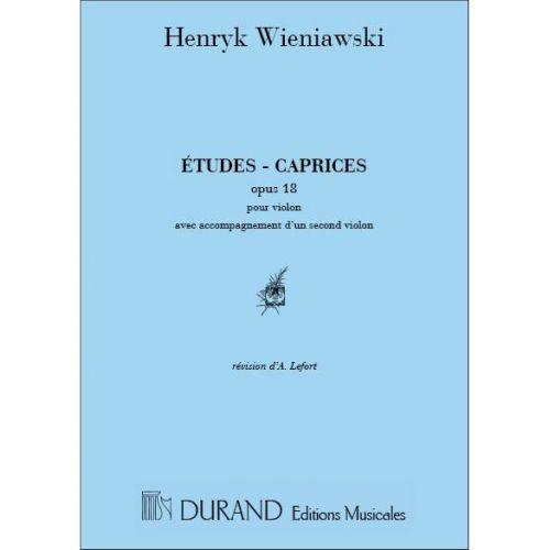 DURAND WIENIAWSKI - ETUDES CAPRICES OP 18 - 2 VIOLONS